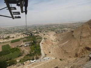 Blick auf Jericho, im Hintergrund das Jordantal und Jordanien