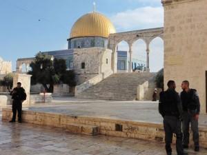 Militär am Heiligtum auf dem Tempelplatz