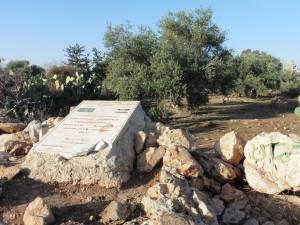 Gedenktafel an die Fünf Toten des friedlichen Protestes