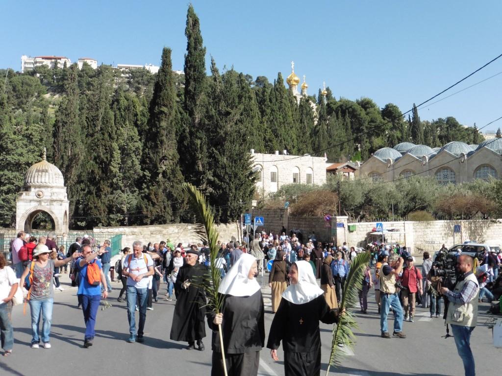 vom Ölberg in die Altstadt von Jerusalem