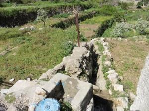 """An diesem Kran wird das Wasser für die Rinnen """"freigegeben"""""""