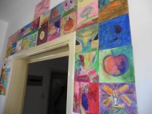 von irakischen Flüchtlingskindern gemalt