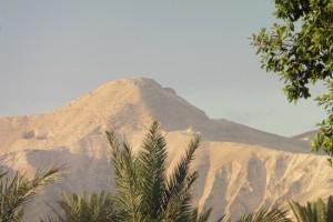 Morgensonne auf die judäischen Berge