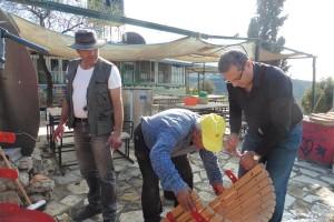 Drei Nasser Brüder: ein seltenes Bild Daoud, Daher und Toni