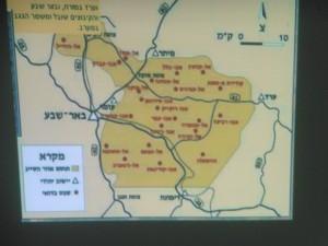 """Karte mit den """"illegalen"""" Dörfern"""