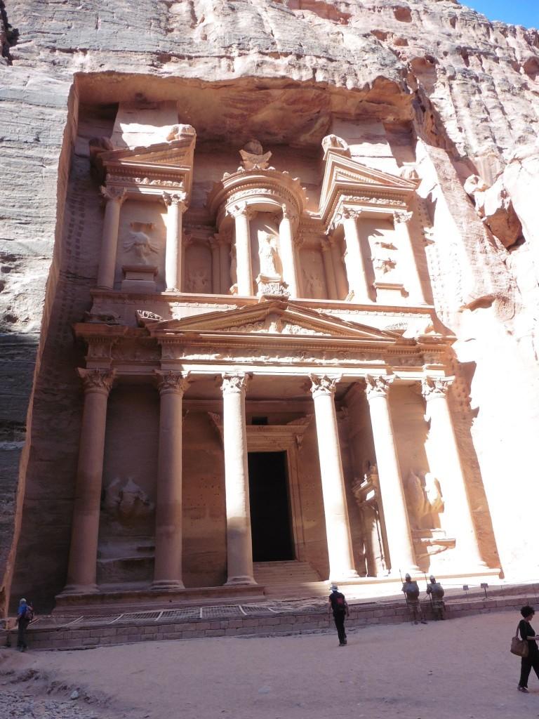 der Höhepunkt in Petra: die Schatzkammer