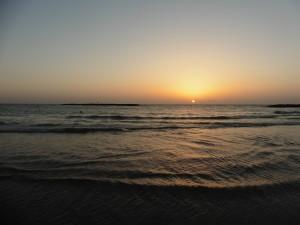 Tel Aviv: Meeresblick am Abend