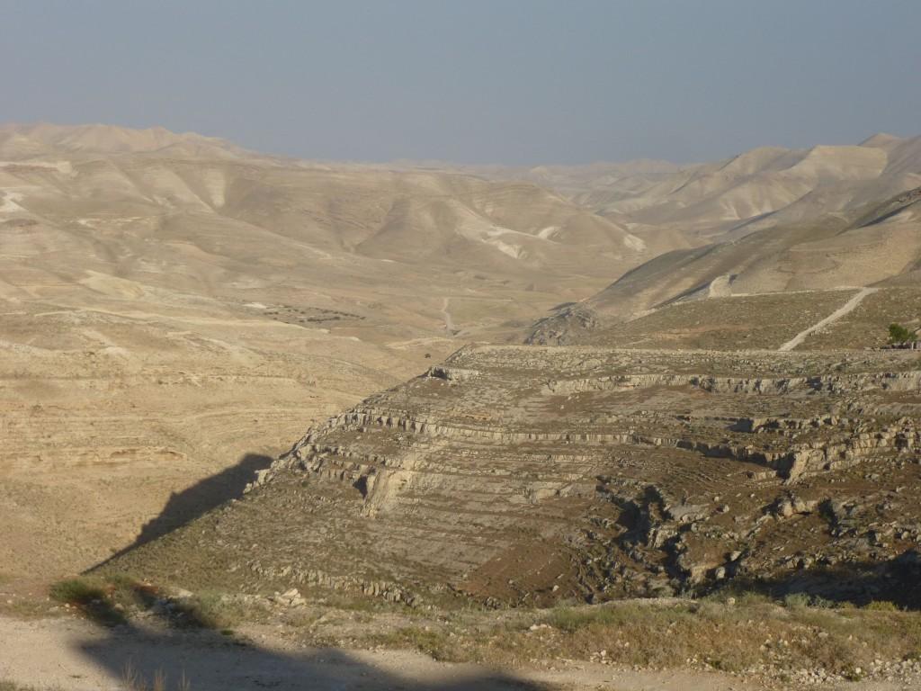 Blick auf die Wüste Richtung Totes Meer