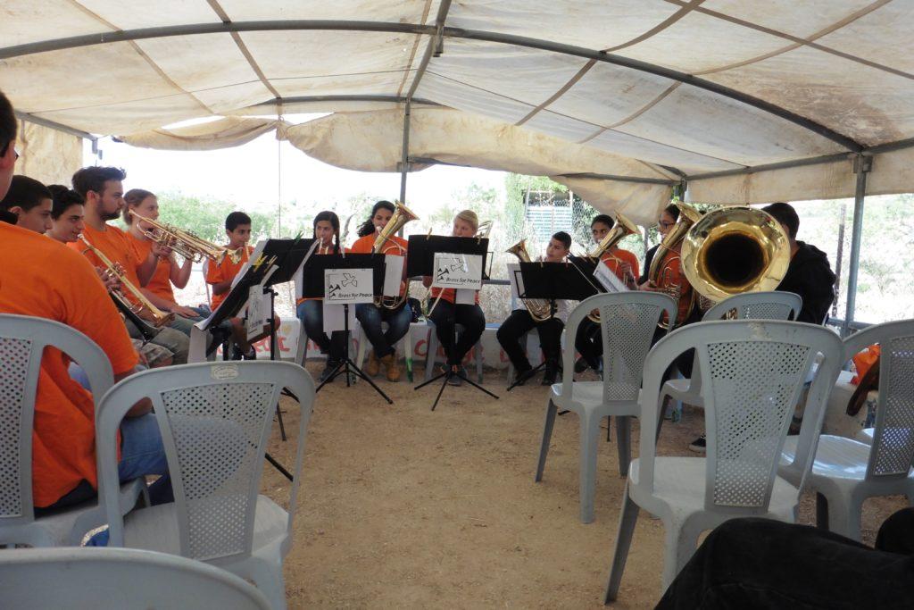 Brass for Peace: ein Musikprojekt in Bethlehem spielt zum Abschluss des ersten Tages
