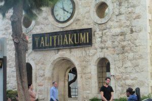 altes Schultor von Talitha Kumi in Jerusalem