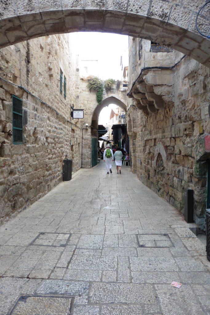 oftmals leere Gassen in Jerusalem