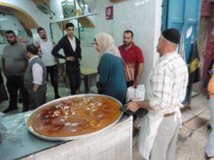 die wundervolle und so leckere Knafeh in Nablus