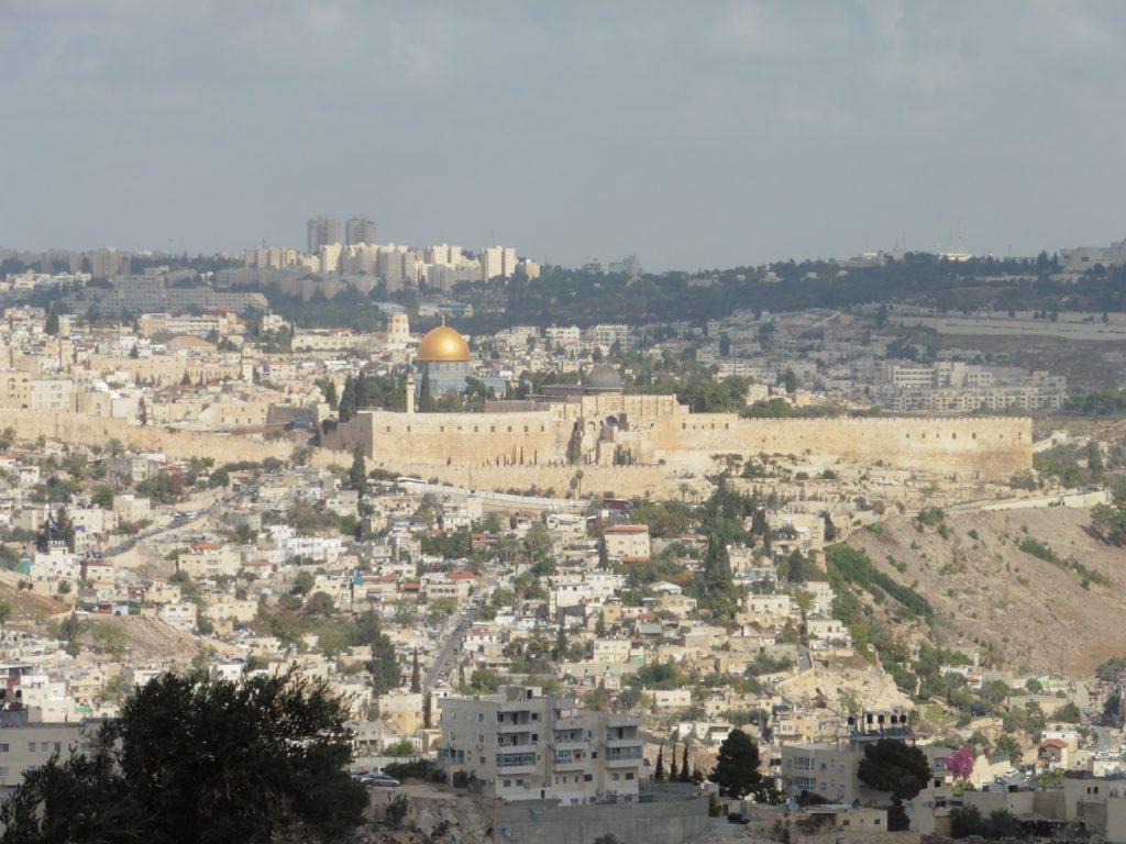 """Blick von der """"Promenade"""" auf Ostjerusalem"""